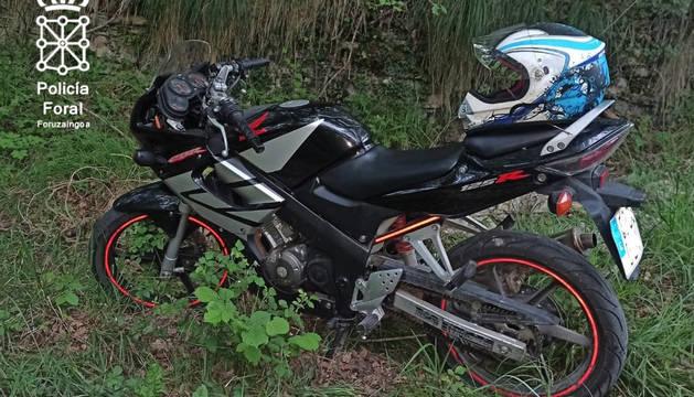 Motocicleta del conductor imputado.