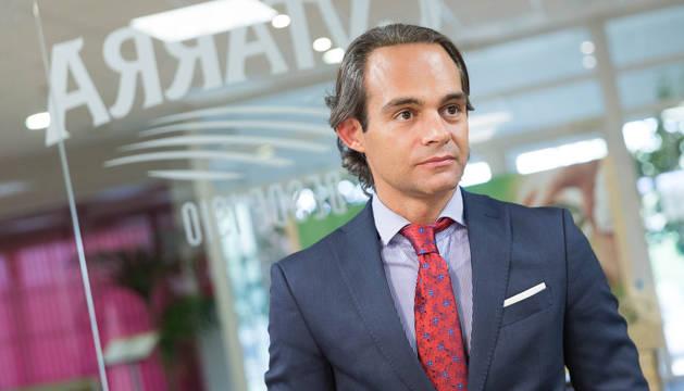 Eduardo López Milagro, consejero delegado de Gvtarra-Grupo Riberebro, en la sede de la empresa en Villafranca.