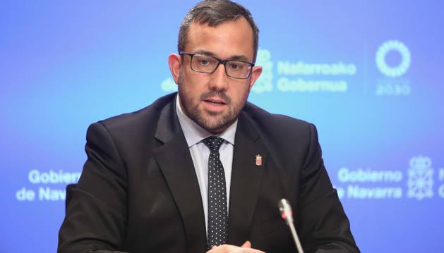 El vicepresidente del Gobierno foral, Javier Remírez, en una comparecencia anterior.