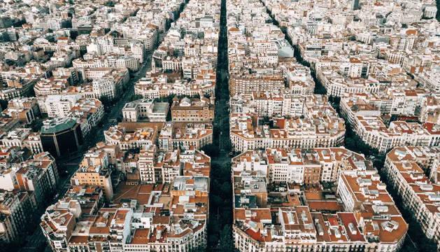 Imagen del ensanche de una ciudad.