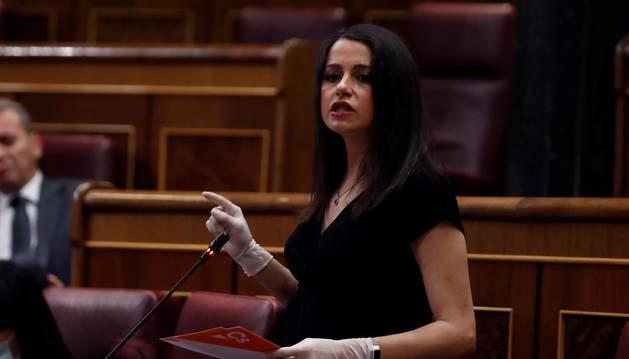 Foto de Inés Arrimadas en el Congreso.