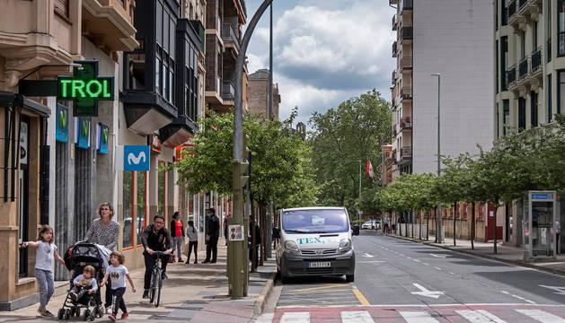 foto de Paseo de la Inmaculada, una de las principales zonas de tránsito peatonal de Estella.