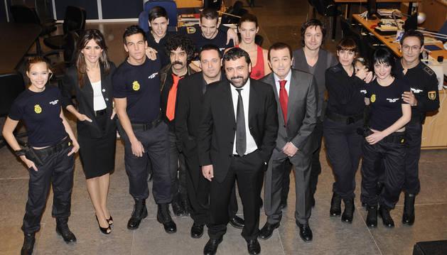 foto de Una imagen anterior del reparto de 'Los hombres de Paco'