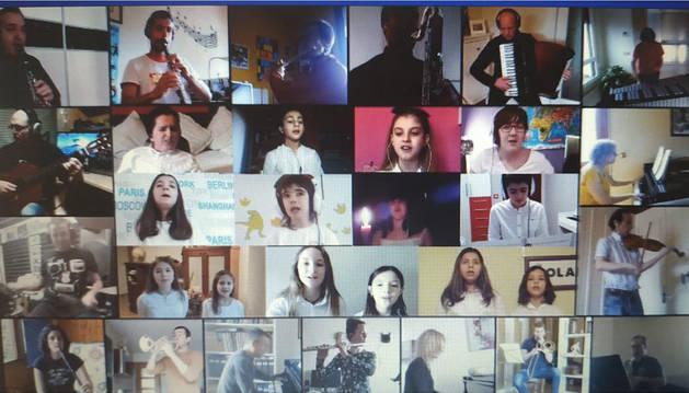 Homenaje musical desde la escuela de música de Tafalla