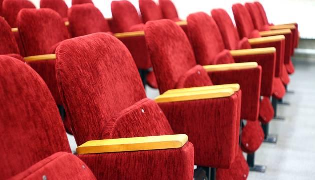Vista del patio de butacas de una sala de cine