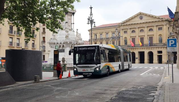 Fotos de los cambios de tráfico en el paseo Sarasate