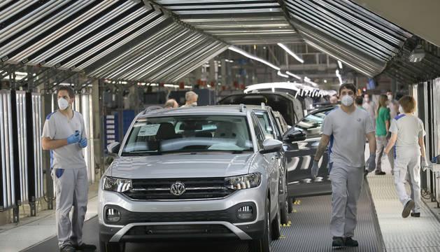 Imagen de archivo de la cadena de Volkswagen en Landaben.