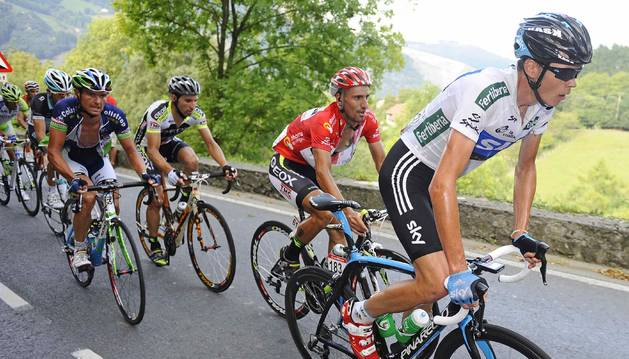 Froome, en la etapa de la vigésima etapa de la Vuelta de 2011 que terminó en Bilbao.