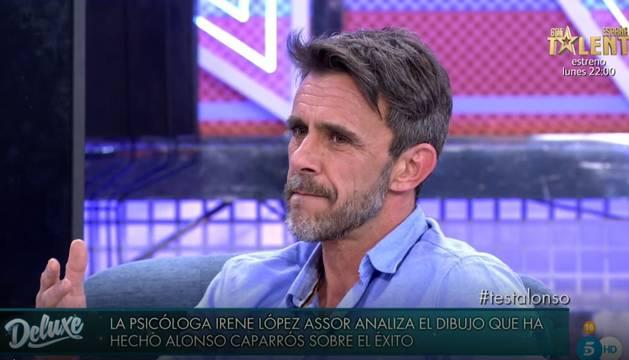 Alonso Caparrós, durante una de sus intervenciones en 'Sábado Deluxe'
