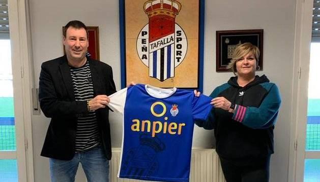 Foto de Unai Jauregi, en su presentación como nuevo entrenador de la Peña Sport.
