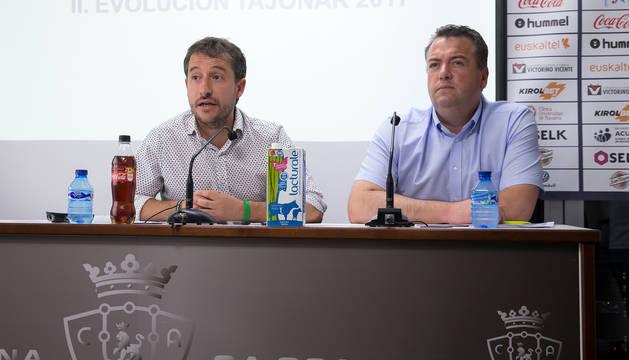 Foto de Félix Vergara, en una comparecencia de hace un año, junto a Ángel Alcalde.