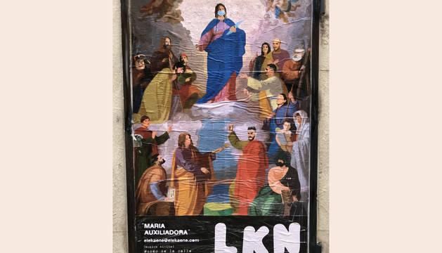 El dibujo está inspirado en un cuadro del artista Tomás Andrés Lorenzone.