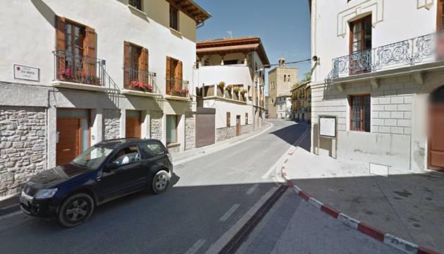 Calle Nueva de Aoiz.