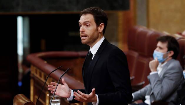 El diputado de UPN Sergio Sayas, en el Congreso.