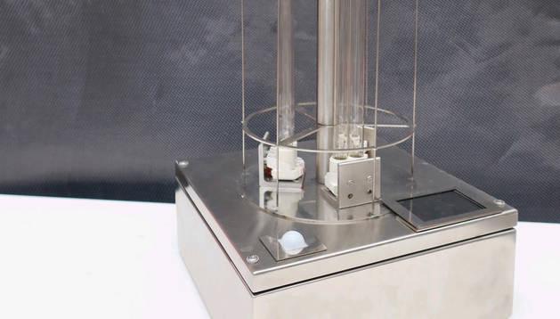 Foto de la máquina de esterilización.
