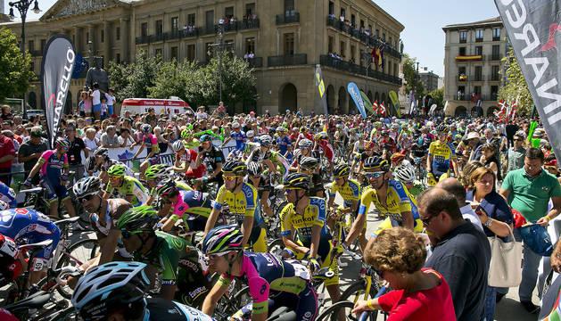 Pamplona fue salida de una etapara de la Vuelta a España en 2014, en aquella ocasión con llegada a Aralar.