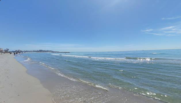 Foto de la playa del Postiguet, en Alicante.