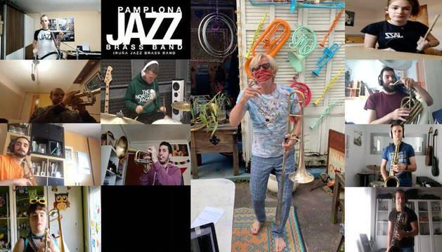 La Iruña Jazz Brass Band se acompaña en su primer disco de Craig Klein