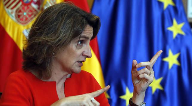 Foto de la vicepresidenta cuarta del Gobierno y responsable de la desescalada, Teresa Ribera.