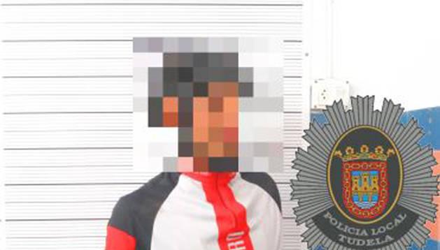 Foto facilitada por la Policía Local de Tudela.