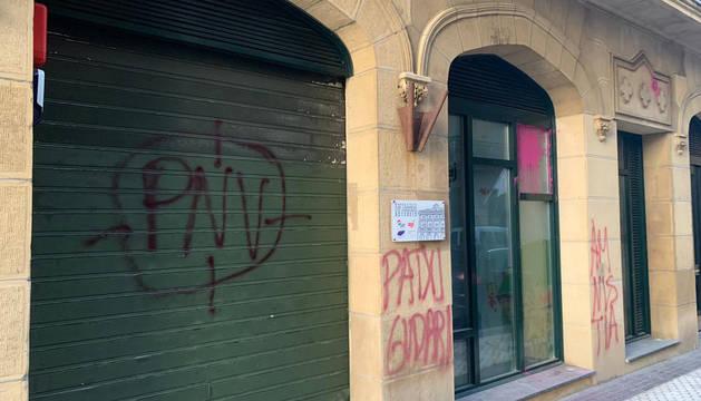 Imagen publicada en la cuenta de Twitter por el EAJ PNV Donostia.