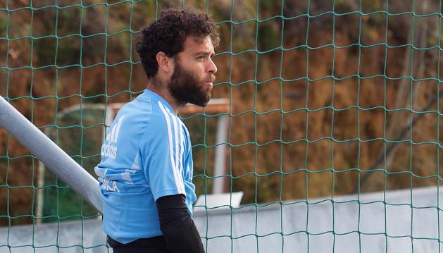 El meta Sergio Álvarez en el regreso del Celta de Vigo a los entrenamientos tras el parón por la pandemia de coronavirus