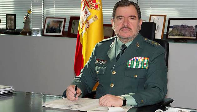 Imagen cedida por la Guardia Civil del general jefe del Servicio de Información del cuerpol, Pablo Salas.