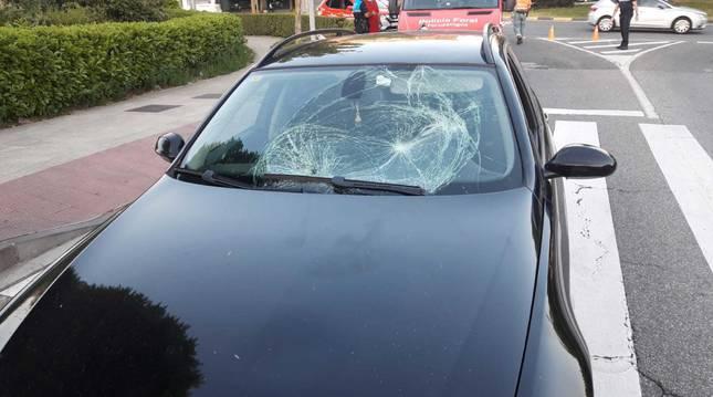 Foto del estado en el que ha quedado el vehículo tras el atropello.
