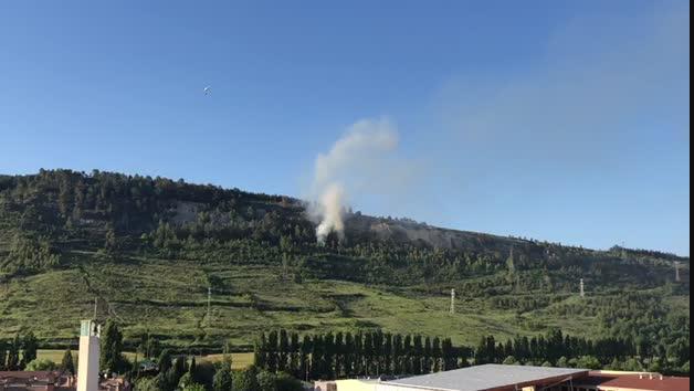 Vídeo del incendio en el Monte San Cristóbal