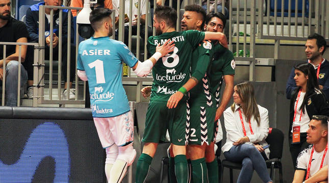 Osasuna Magna puede volver a jugar en el Martín Carpena de Málaga si los 'playoff' se disputan finalmente en ese pabellón.