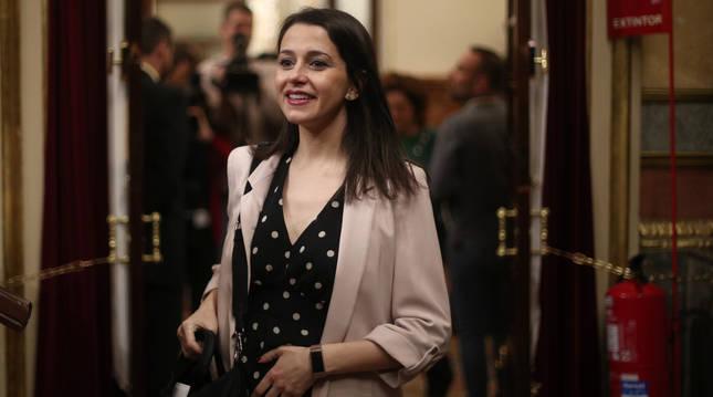 Foto de Inés Arrimadas, líder de Ciudadanos.