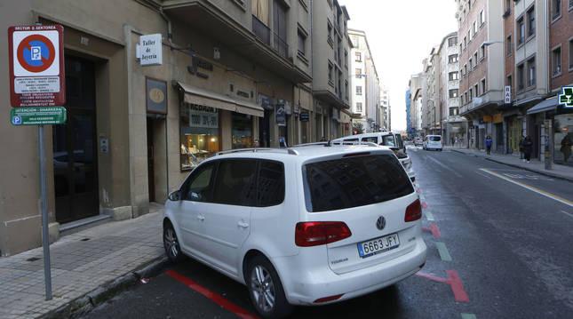 Foto de la calle Amaya de Pamplona.
