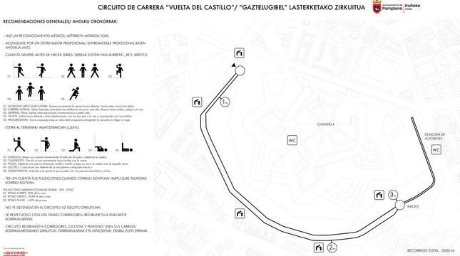 Cartel del circuito de la Vuelta del Castillo.