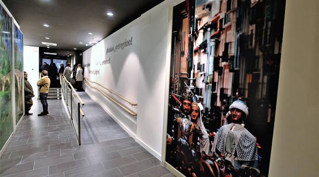 Foto del interior del centro de Interpretación del Camino de Santiago Ultreia, en Pamplona.