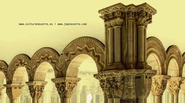 Cartel de las Jornadas Europeas de Patrimonio en Navarra 2020.