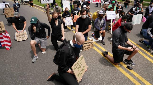 Las protestas por la violencia policial en EE UU apuntan ahora a Trump