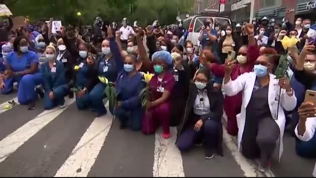 Las protestas continúan por todo Estados Unidos aunque el toque de queda rebaja la intensidad