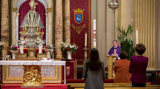 Misa el 15 de marzo, en la capilla de San Fermín.