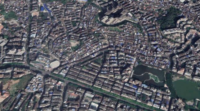 Imagen aérea de Wuzhou, ciudad donde ha tenido lugar el suceso.