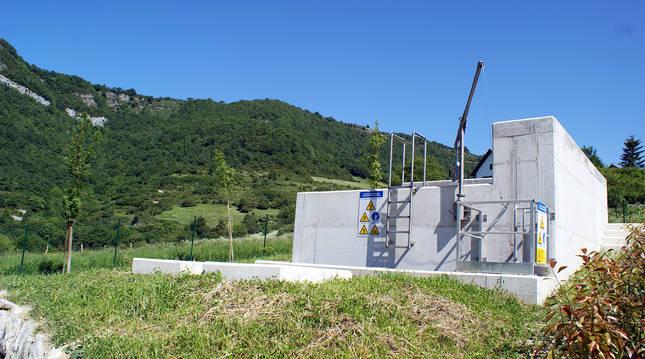 Instalaciones de la depuradora de Orbaizeta.