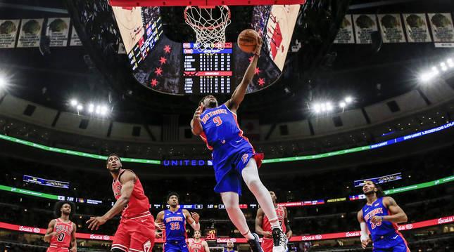Imagen del encuentro disputado en noviembre de 2019 entre Chicago Bulls y Detroit Pistons en el United Center de Chicago.