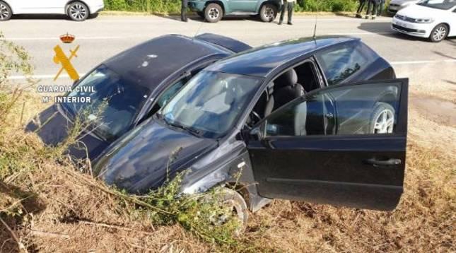 Estado en el que han quedado los vehículos involucrados en el accidente de Zubielqui