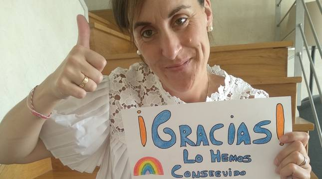 Ángela García ha elegido realizar la donación de 10.000 euros al Hospital Reina Sofía de Tudela.