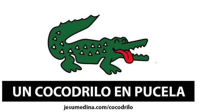 Ilustración del diseñador Jesu Medina sobre el cocodrilo al que se busca en los ríos Pisuerga y Duero.