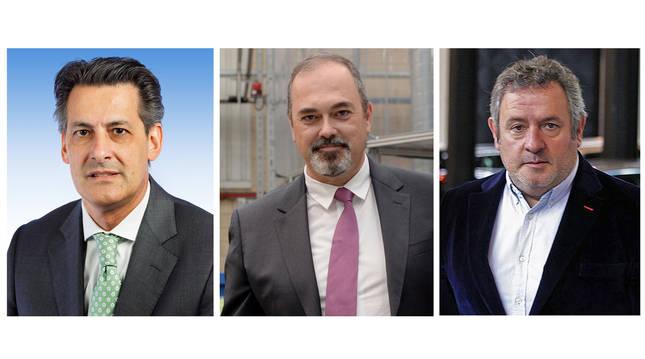 De izda. a cha., Francisco Javier Guerrero (VW), Roberto Lanaspa y Carlos Sagüés.
