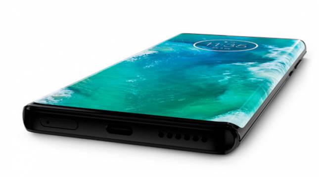 Aspecto del Motorola Edge, con su pantalla curva
