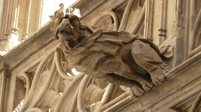 Una gárgola, presente en muchos cascos históricos de España