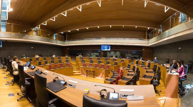 Foto de la Comisión Especial del Plan Reactivar Navarra.