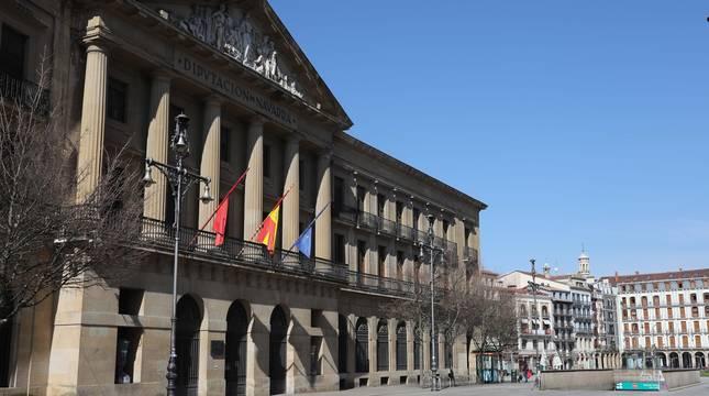 El Palacio de Navarra, sede de la Diputación.
