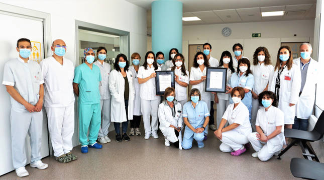 foto de Integrantes del equipo de profesionales de la sección de Radiología del Hospital Reina Sofía de Tudela.